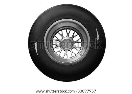 racing tire isolated - stock photo