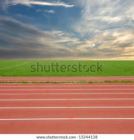 racing track - stock photo
