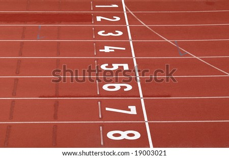 racing track, finish detail - stock photo