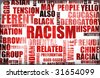 Racism and Discrimination as a Grunge Background - stock vector