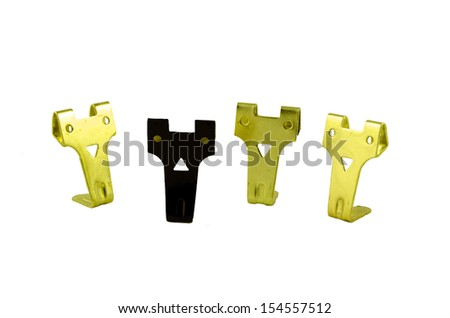 Racism concept represented by 3 yellow spikes and one black - stock photo
