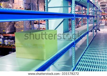 racks for storage of goods - stock photo