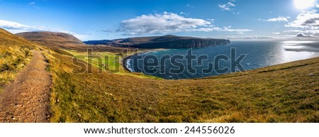 Rackwick bay, Isle of Hoy, Orkney islands, Scotland - stock photo