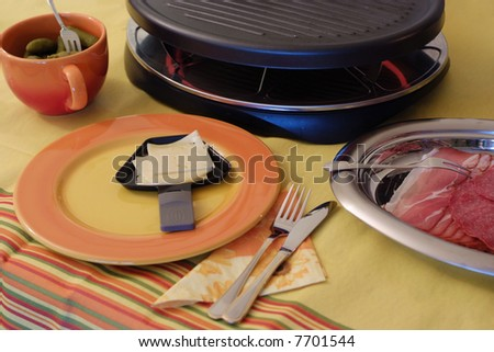 Raclette - stock photo