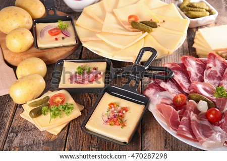 raclette party cheesepotato meat stock photo royalty free 470287298 shutterstock