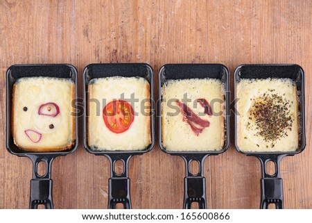 raclette tray - stock photo