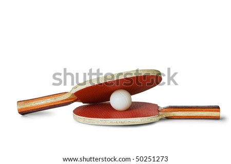 racquet tennis isolated on a white background - stock photo
