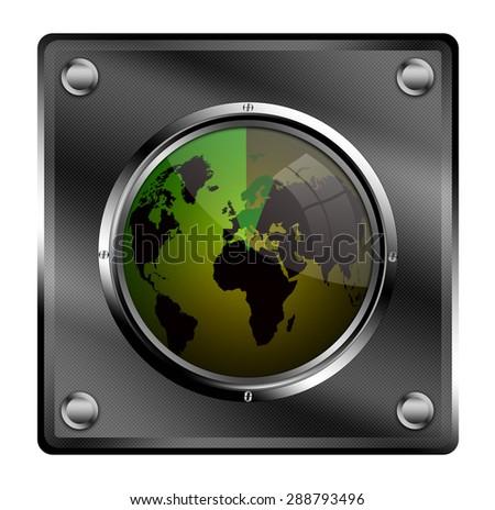 Radar button. - stock photo