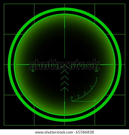 Radar screen (raster image) - stock photo