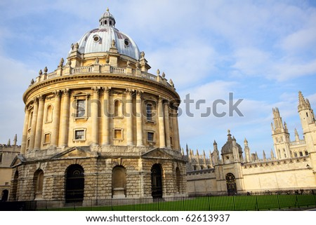 Radcliffe Camera and All Souls College, Oxford, England - stock photo