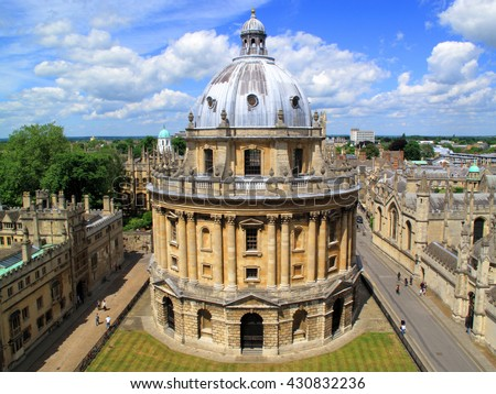 Radcliffe Camera, Oxford, Oxfordshire, England, UK built between 1737-1749 to originally house The Radcliffe Science Library, but now is a reading rooms for the Bodleian Library - stock photo