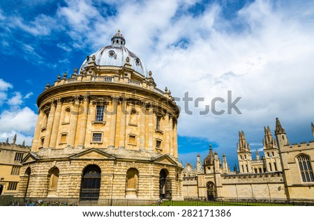 Radcliffe Camera, the library of Oxford Univesity - England - stock photo