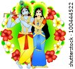 Radha and Krishna - stock vector