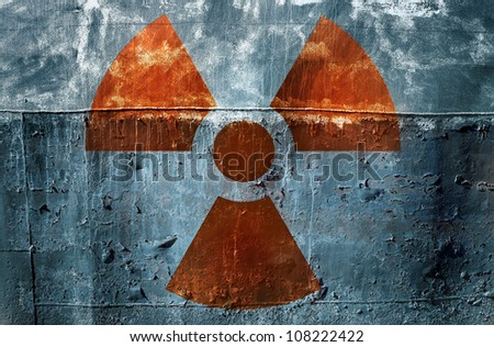 radiation ! - stock photo