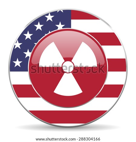 radiation american icon original modern design for web and mobile app on white background  - stock photo