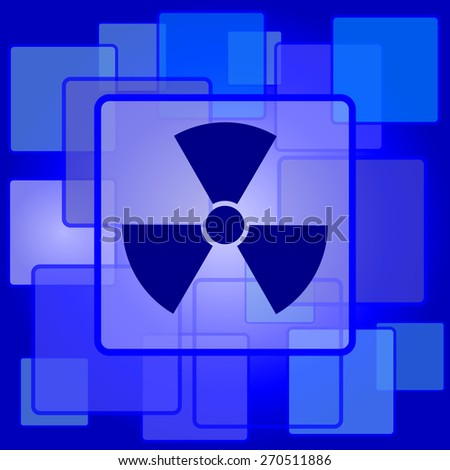 Radiation icon. Internet button on abstract background.  - stock photo