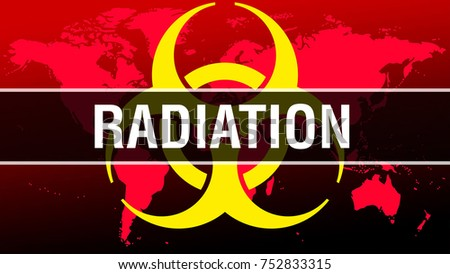 Radiation on world map background hazard stock illustration radiation on world map background with hazard symbol as infection concept 3d rendering gumiabroncs Choice Image