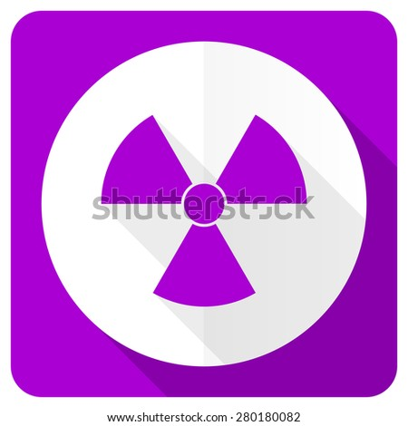 radiation pink flat icon atom sign  - stock photo
