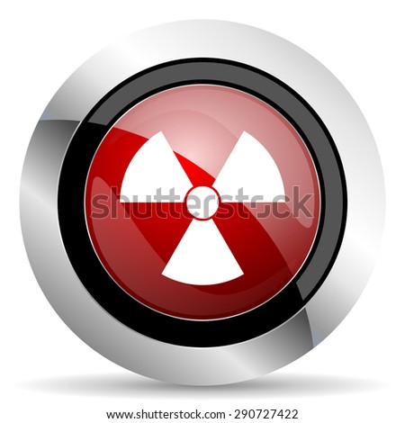 radiation red glossy web icon original modern design for web and mobile app on white background  - stock photo