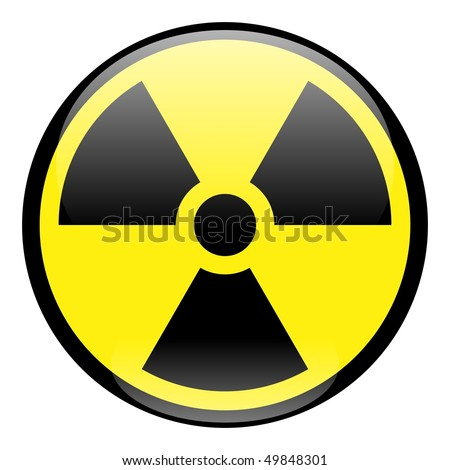 Radiation Sign Icon - stock photo