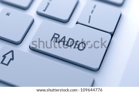 Radio button on keyboard with soft focus