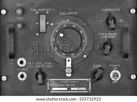 Radio Control Panel - stock photo