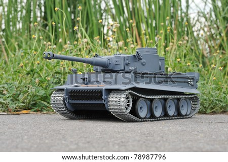 Radio control tank - stock photo