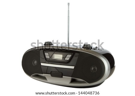 Radio control transmitter isolated on a white background.