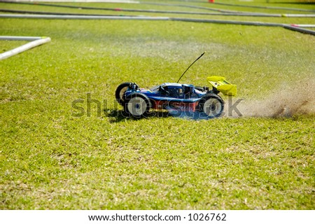 Radio controlled baggy - stock photo
