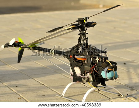 Radio Controlled Helicopter model - stock photo