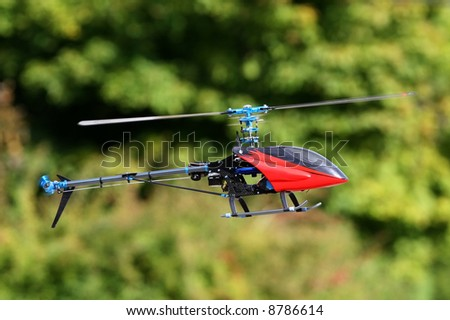 Radio controlled helicopter. RC - stock photo
