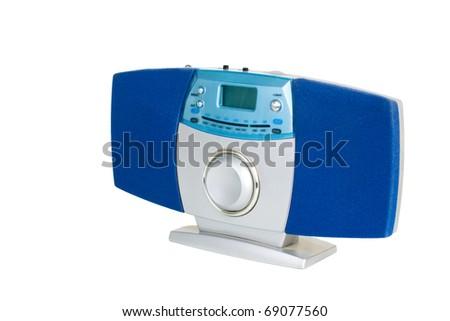 Radio isolated on white background - stock photo