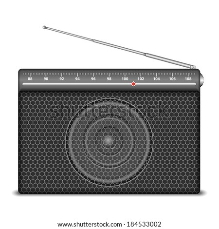 Radio on white background - stock photo