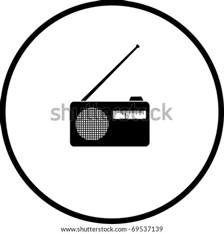 radio symbol - stock photo