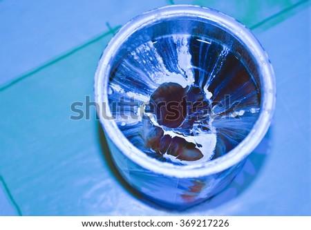 Radioactive material - stock photo