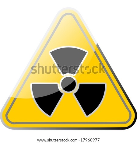 radioactive sign triangle - stock photo