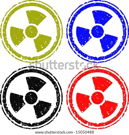 radioactive stamp is various colors