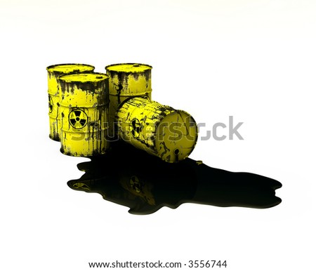 Radioactive Waste - Pollution Concept - stock photo
