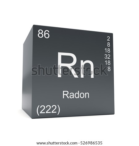 Radon Chemical Element Symbol Periodic Table Stock Illustration