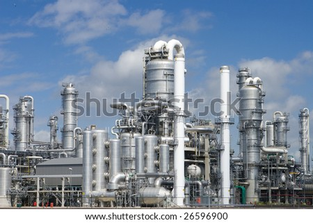 Rafinery Pernis in Holland - biggest refinery in the world - stock photo