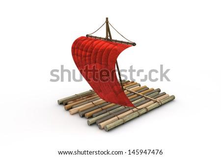 Raft - stock photo