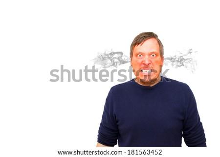 Rage - furious man - stock photo
