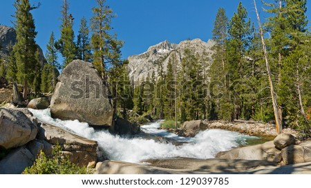 Raging Mountain Creek in the Sierra Nevada, California, USA