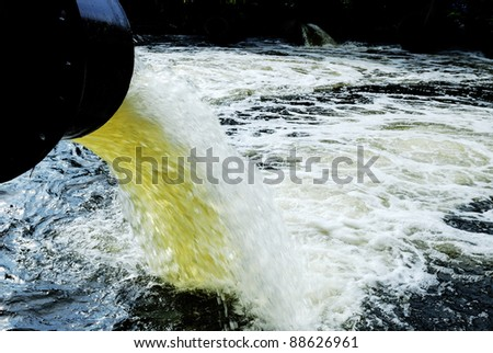 Raging River Floodwater - stock photo