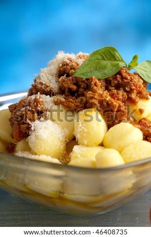 ragu gnocchi - stock photo