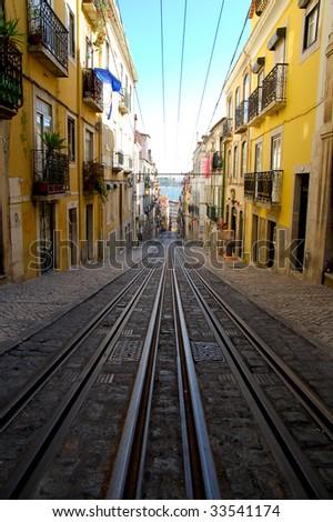 Rail at Lisbon - stock photo