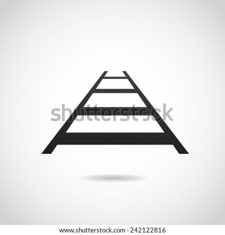 Rail icon isolated on white background.  - stock photo
