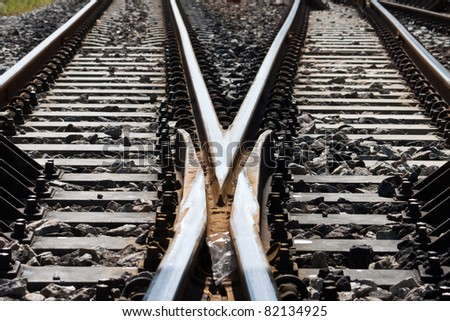 rail road - stock photo