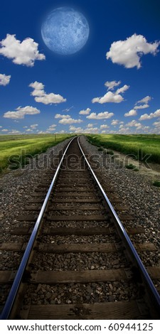 Rail tracks landscape