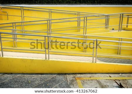 railing of stair walkway - stock photo